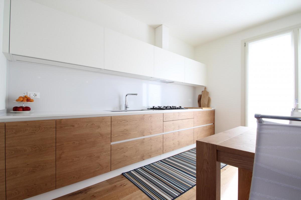 25 Cucina lineare in 2 pareti