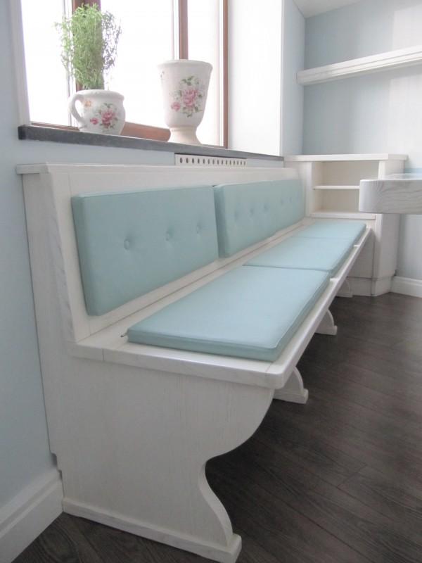 Cucina laccata bianco spazzolato 2