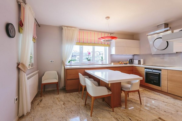 15 Cucina moderna rovere e bianco lucido