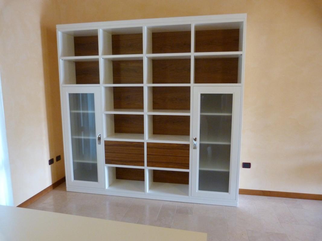 4 Libreria in teak bicolore