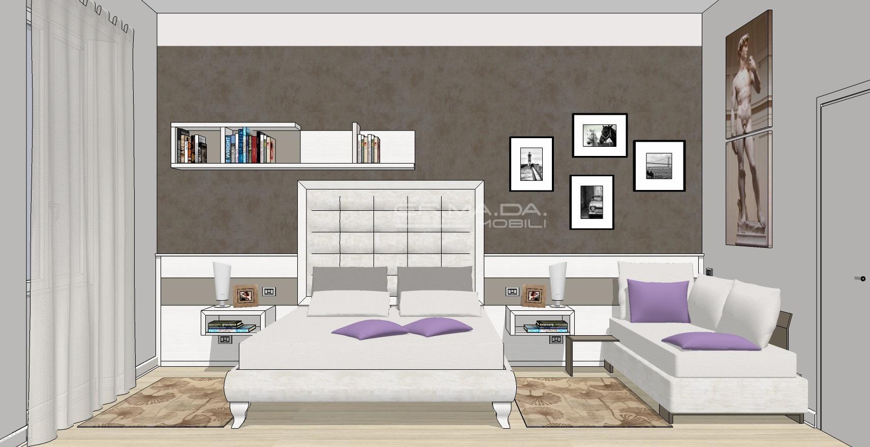 Camera matrimoniale 8 er ma da mobilificio progetta for Progetta i tuoi mobili