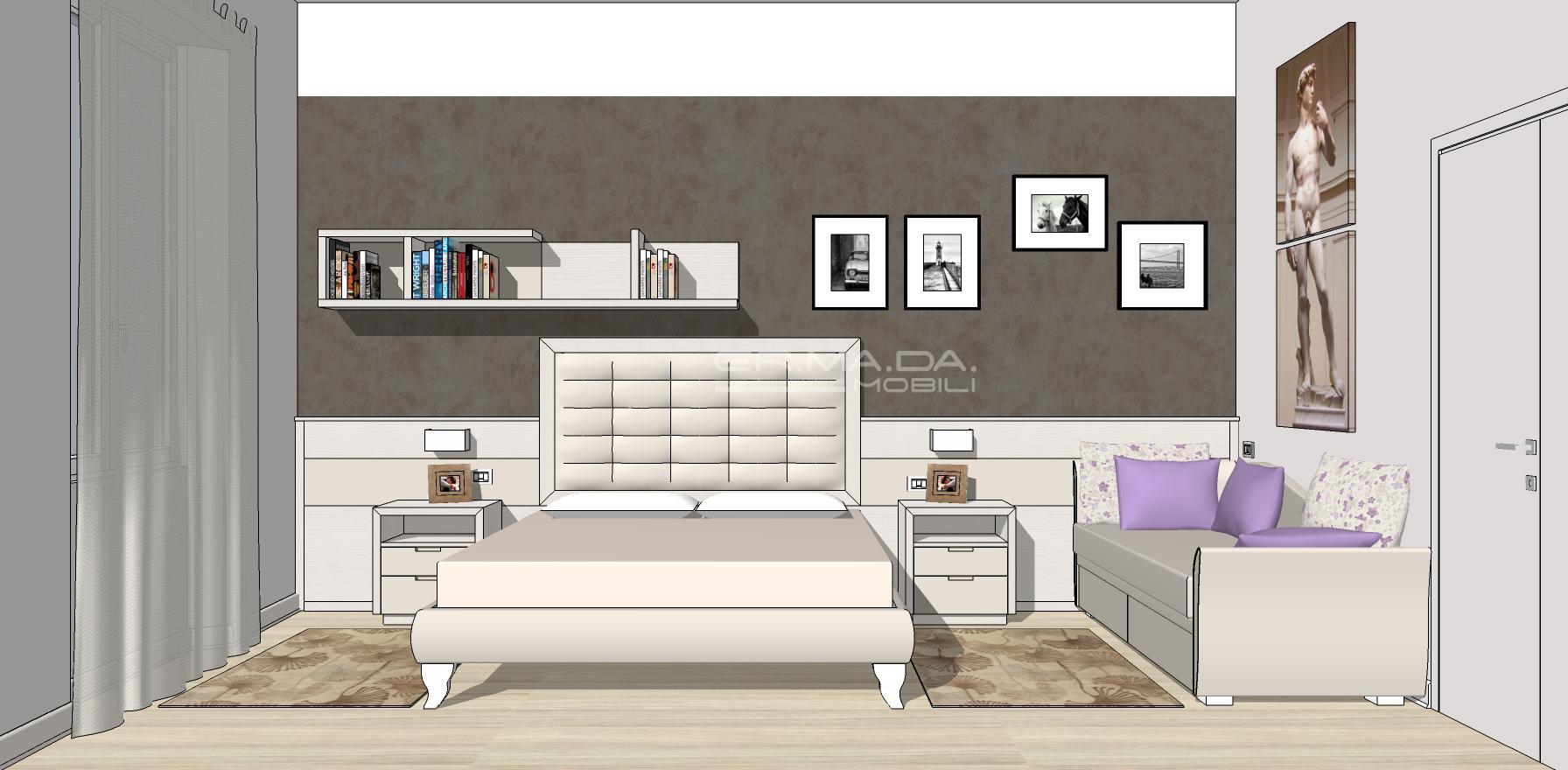Camera matrimoniale 8 er ma da mobilificio progetta for Progetta i tuoi mobili online