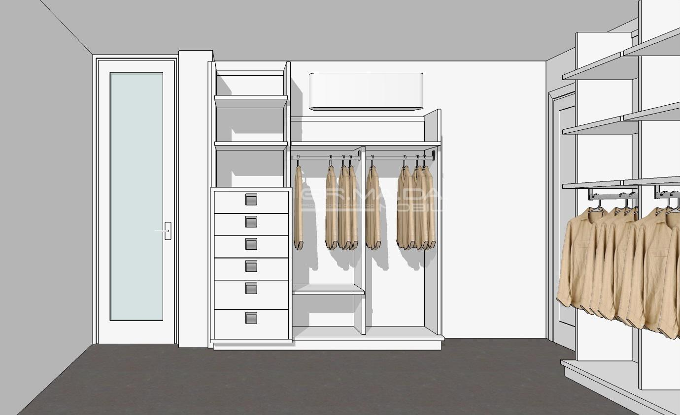 Progettazione Cabina Armadio : Cabina armadio er ma da mobilificio progetta e