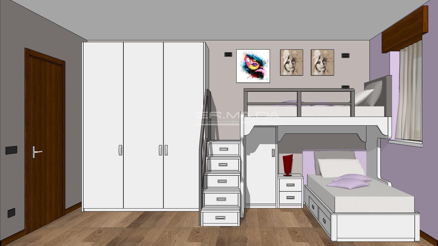 cameretta bambini 14 er ma da mobilificio progetta On progetta i tuoi mobili