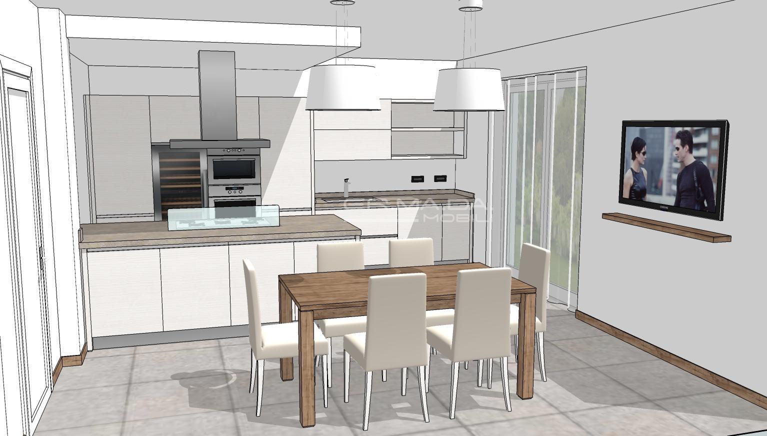 Cucina 3 er ma da mobilificio progetta e costruisce for Progetta i tuoi mobili
