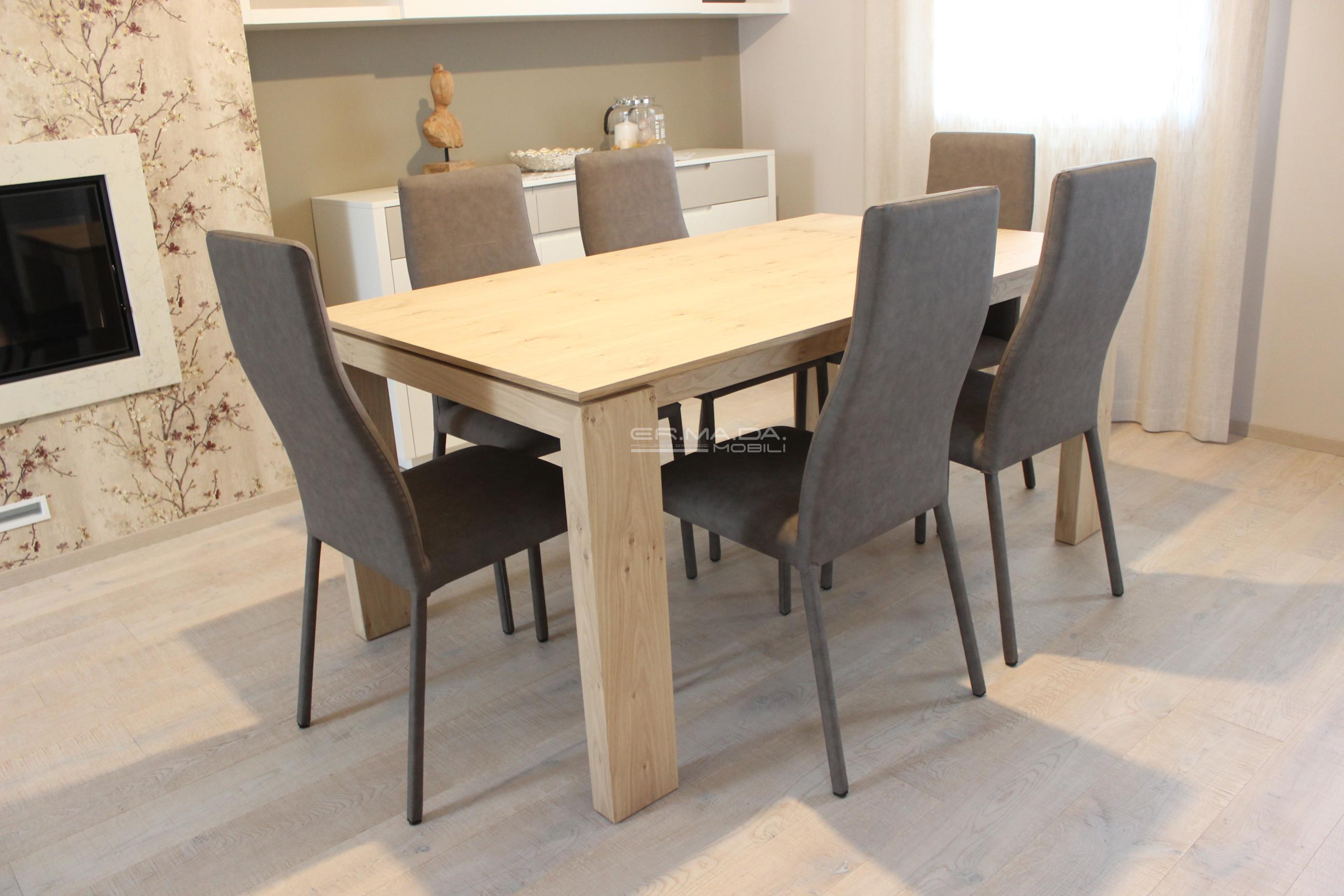 20 tavolo allungabile in rovere nodato naturalizzato er - Meccanismo tavolo allungabile ...