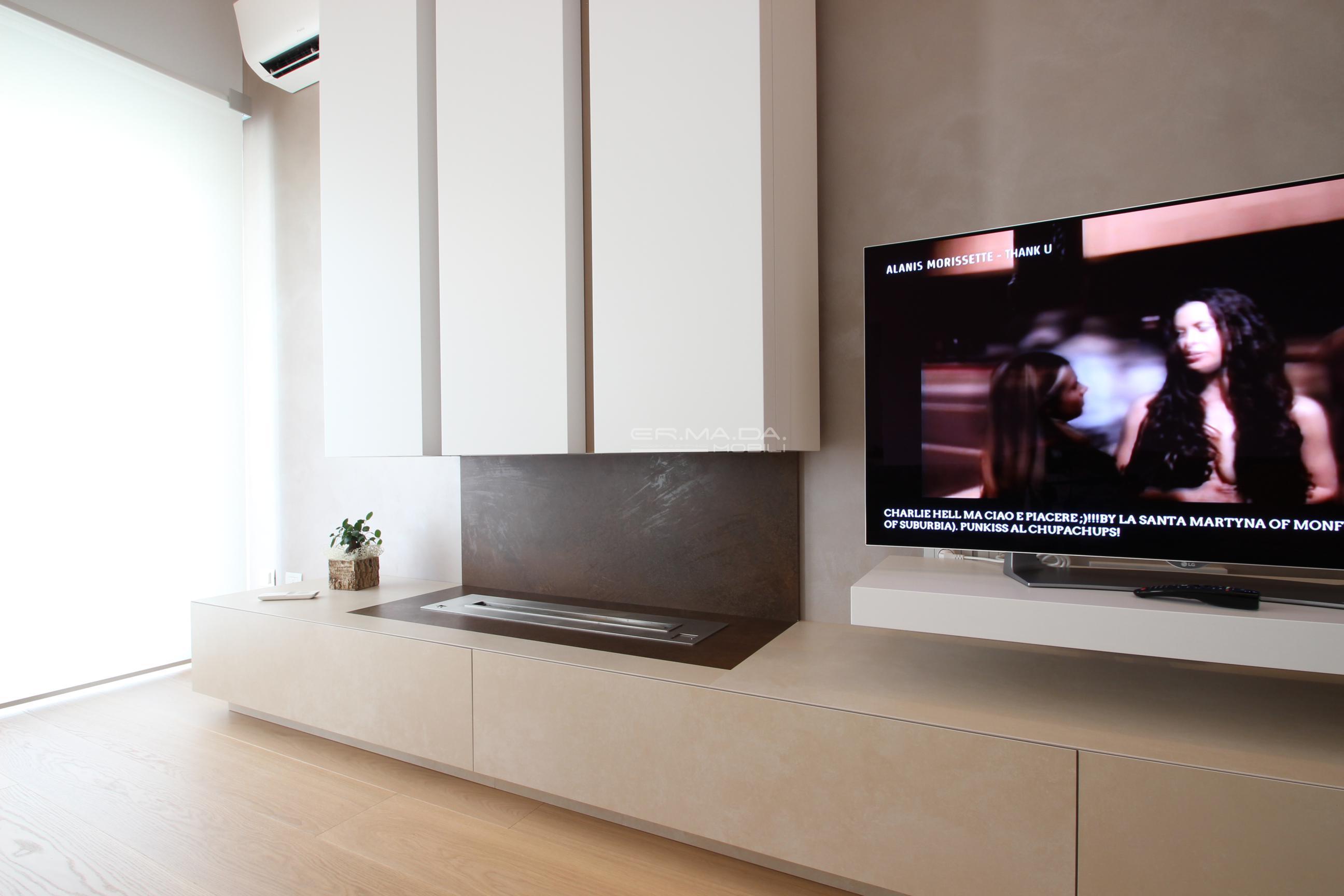 Mobile Tv Con Camino 17 mobile tv con camino bioetanolo - er. ma. da. mobilificio
