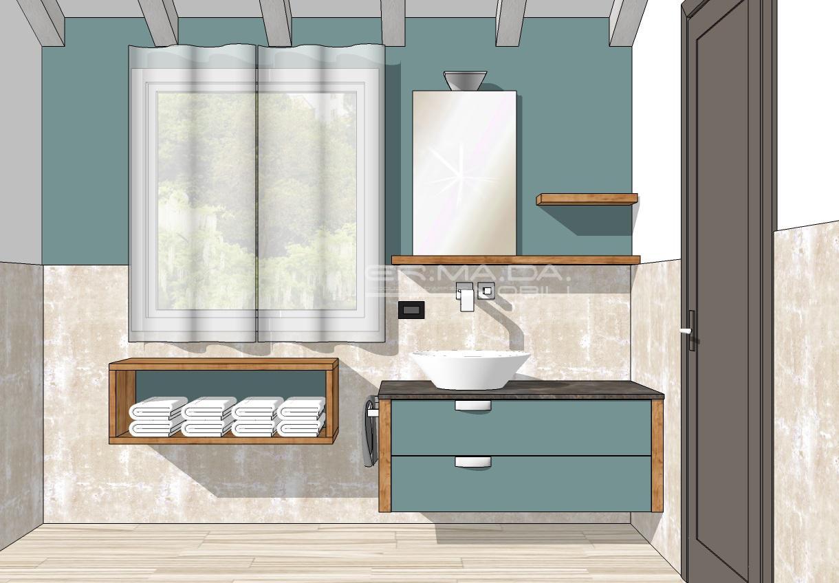 Bagno 1 er ma da mobilificio progetta e costruisce for Bagno 27