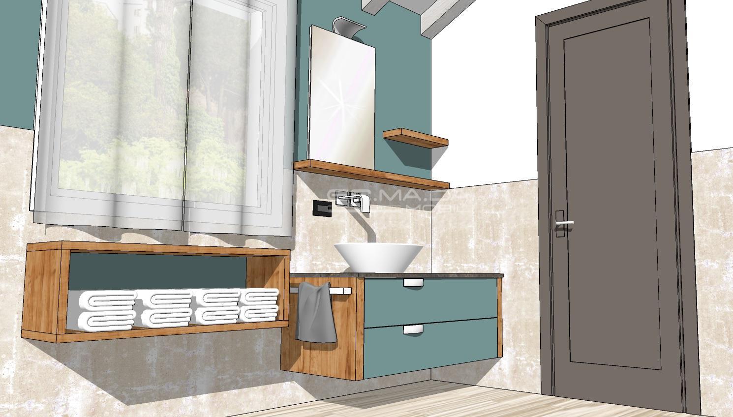 bagno 1 er ma da mobilificio progetta e costruisce On progetta i tuoi mobili