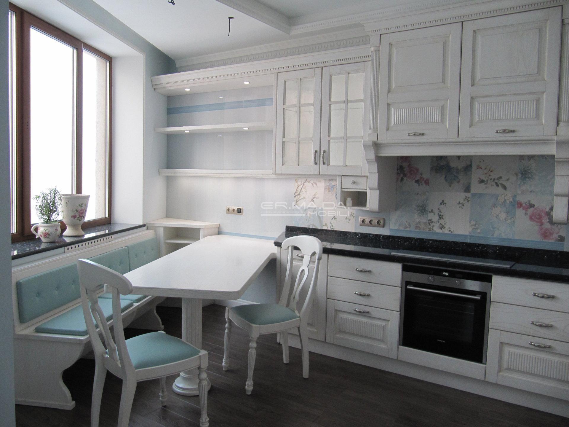 Cucina laccata bianco spazzolato 2 er ma da for Progetta i tuoi mobili online