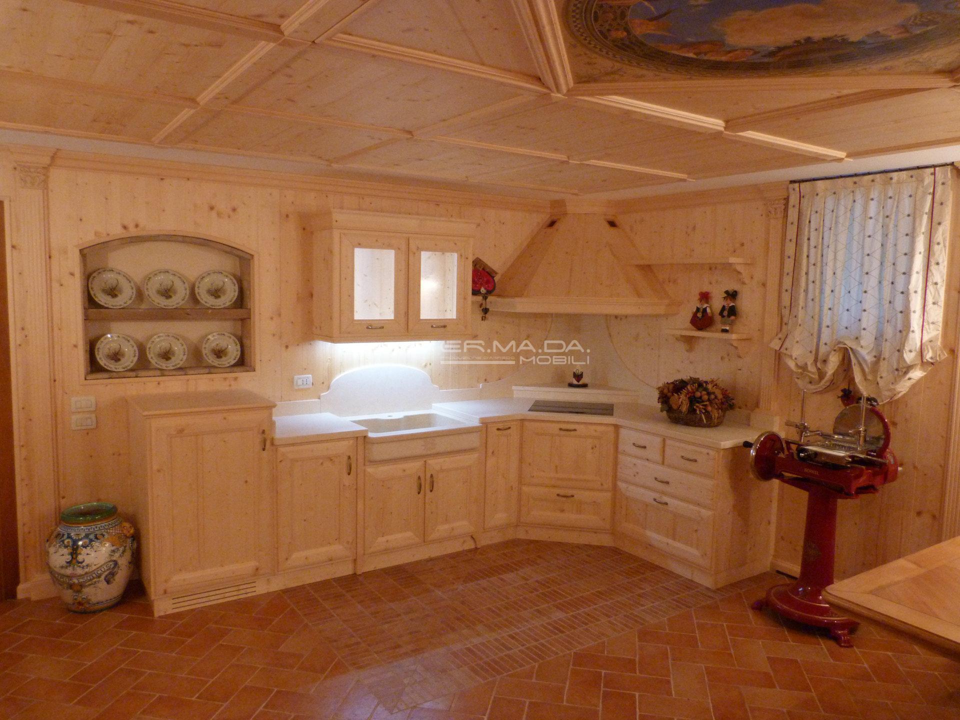 Tavera abete naturale 3 er ma da mobilificio - Cucine in abete ...