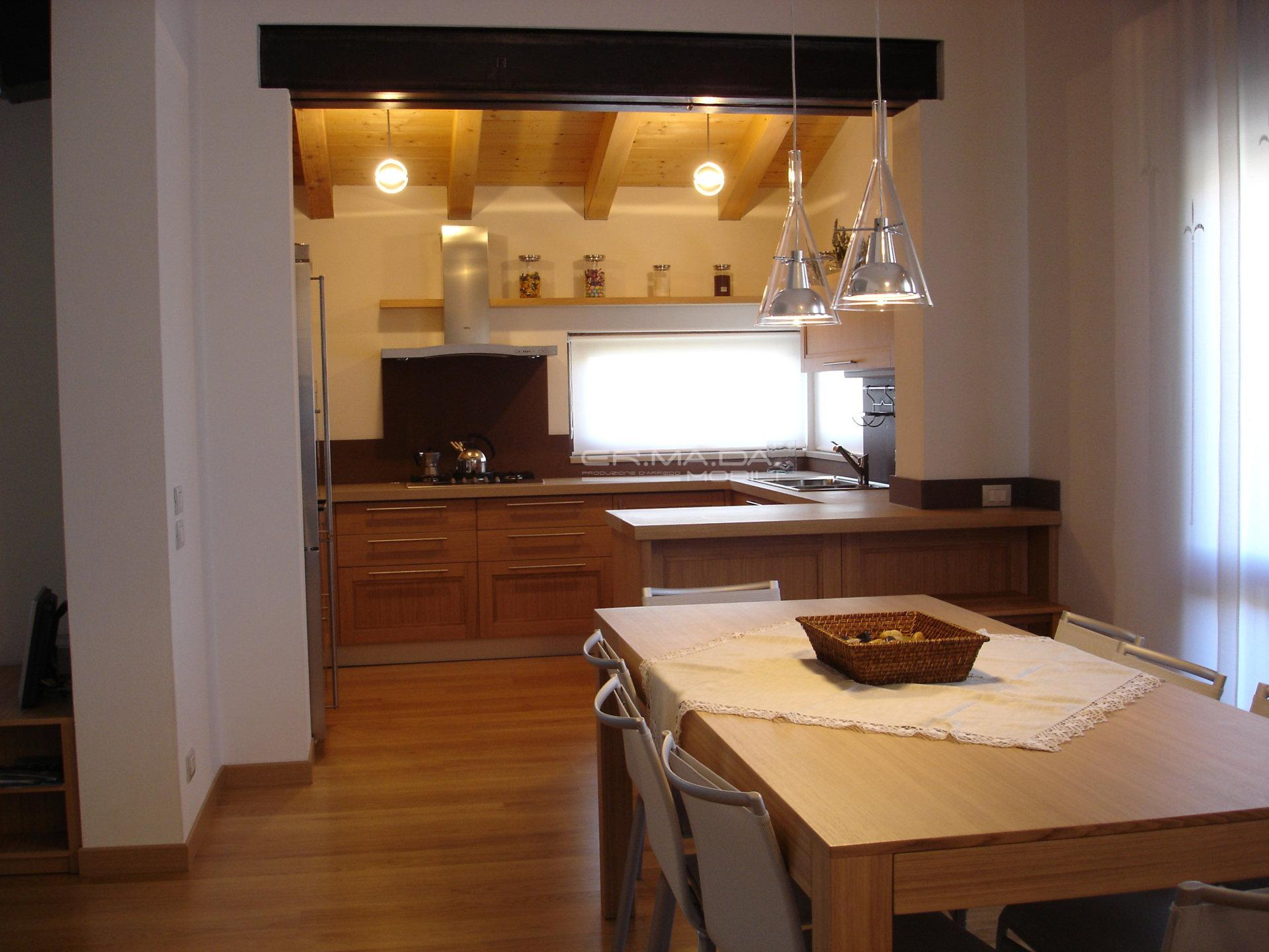 7 cucina rovere naturale a telaio - er. ma. da. mobilificio ... - Cucina Rovere Naturale