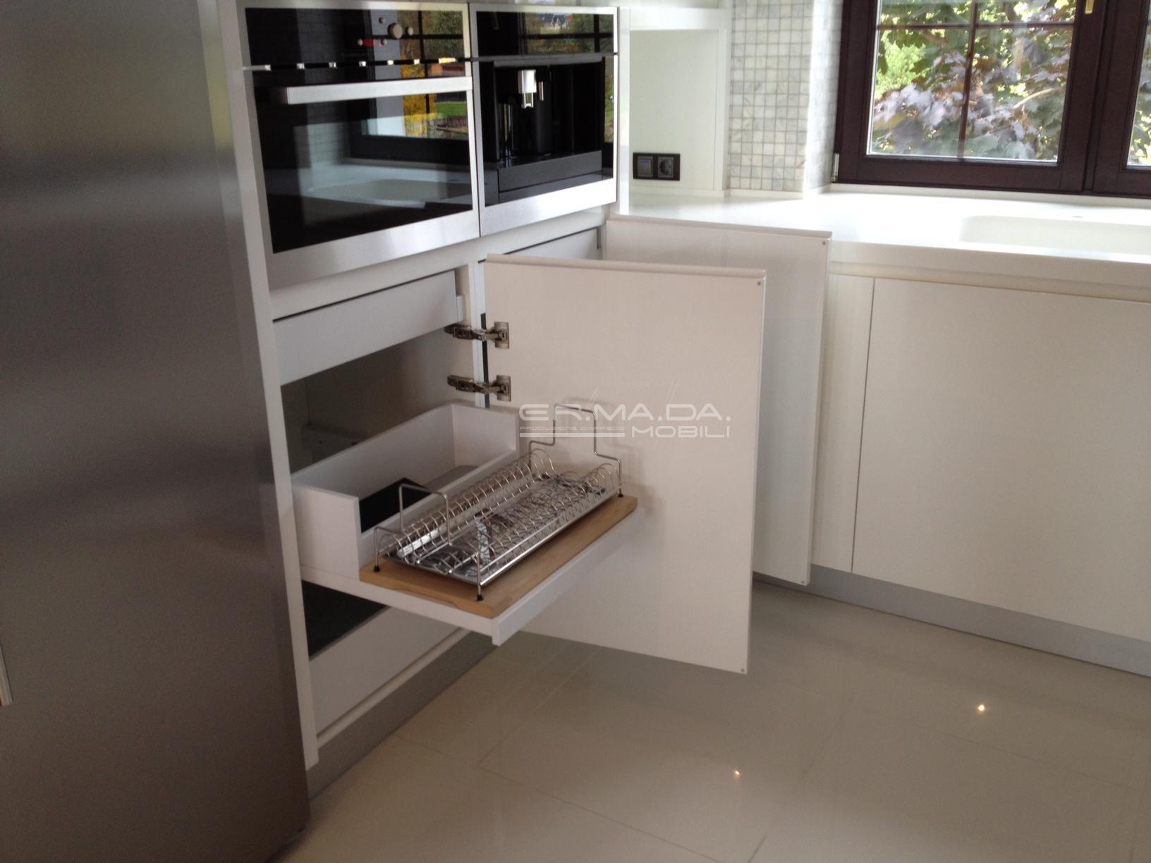 13 Cucina laccata bianco lucido - ER. MA. DA. Mobilificio ...