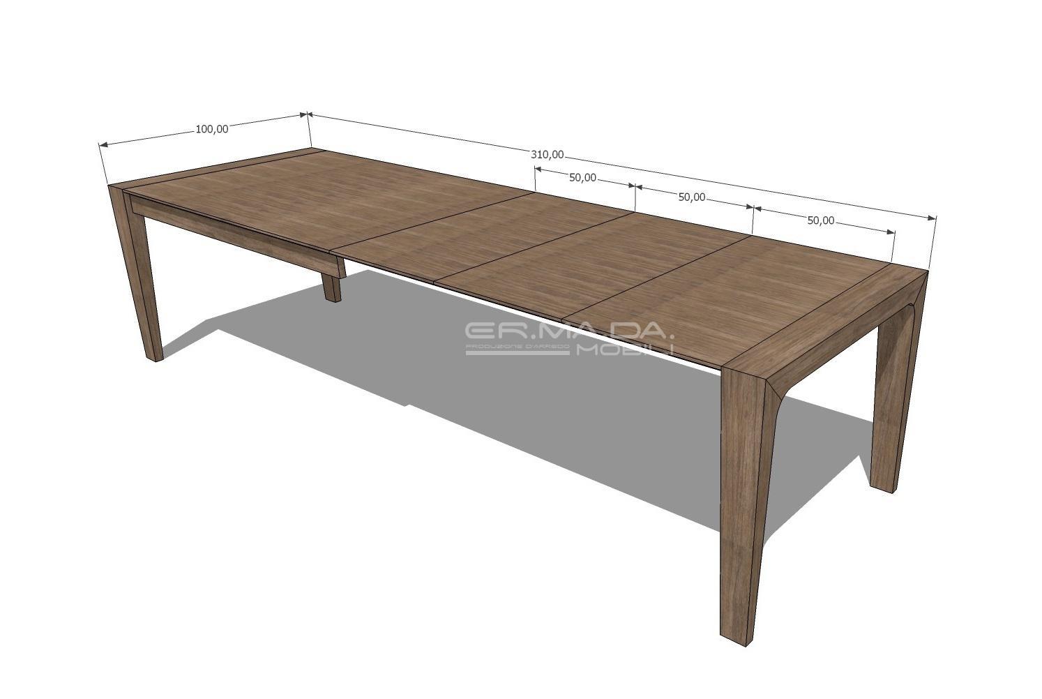 Tavolo Allungabile 11 Er Ma Da Mobilificio Progetta E Costruisce I Tuoi Mobili